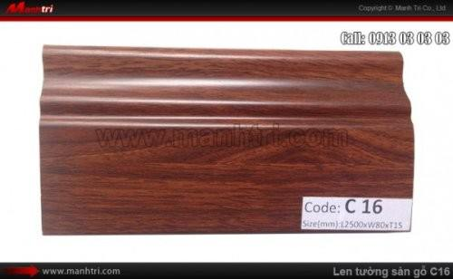 Len chân tường sàn gỗ C16