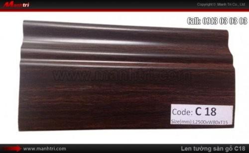Len chân tường sàn gỗ C18