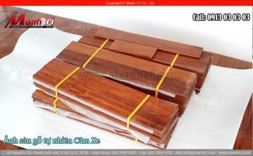 Lót sàn gỗ tự nhiên Căm Xe tại quận Phú Nhuận