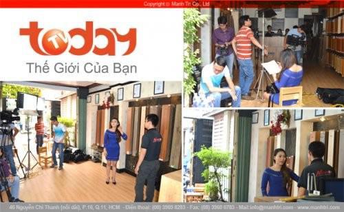 Today TV thực hiện phóng sự về sàn gỗ tại Mạnh Trí
