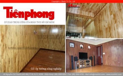 Báo Tiền Phong viết về Gỗ Ốp Tường công nghiệp của công ty sàn gỗ Mạnh trí