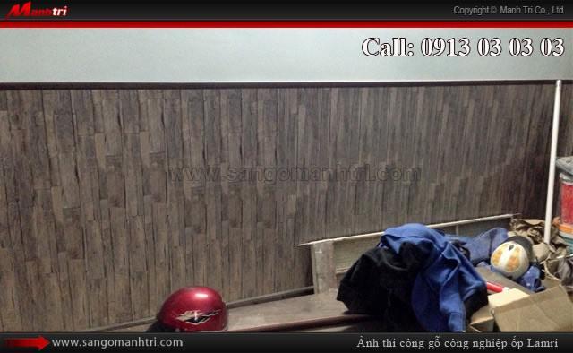 Lamri gỗ ốp tường