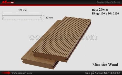 Sàn gỗ ngoài trời Awood SD120x20_Wood