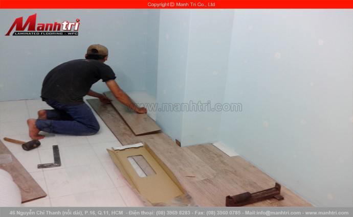 Lắp đặt sàn gỗ công nghiệp Janmi