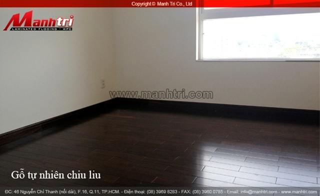 Sàn gỗ tự nhiên Chiu Liu thi công hoàn thiện