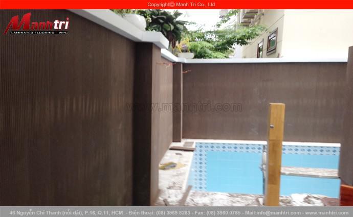 Ốp tường gỗ Awood SD151X10 tại nhà anh Thanh quận 7, TPHCM