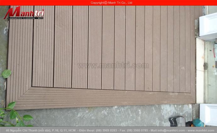 Gỗ nhựa Awood HD140x25 lót sàn ngoài trời tại quận Phú Nhuận, TPHCM