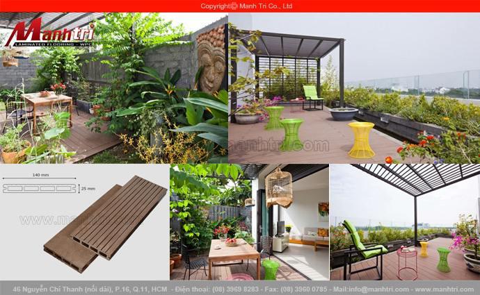 Gỗ Awood HD140x25 lót sàn ngôi biệt thự quận Bình Thạnh, TPHCM
