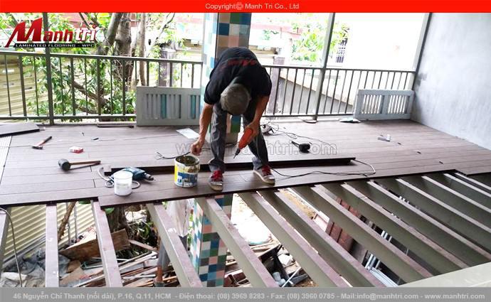 Gỗ nhựa Awood lót sàn ban công quận Phú Nhuận, TPHCM