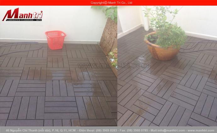 Lắp đặt vỉ gỗ nhựa Awood DT01 lót sàn quận 1, TPHCM