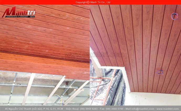 Len tường nhựa Smart Floor LMT006 ốp trần nhà tại quận 7, TPHCM