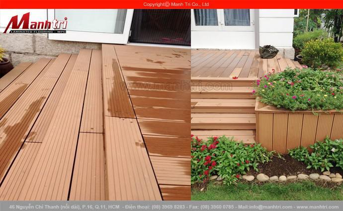 Lắp đặt sàn gỗ ngoài trời Awood HD140x25 tại ngôi biệt thự quận Thủ Đức, TPHCM