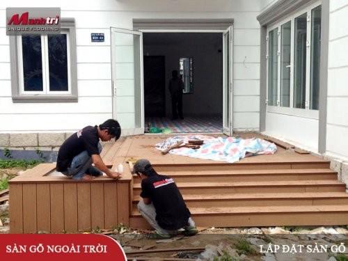 Hướng dẫn lắp đặt sàn gỗ ngoài trời