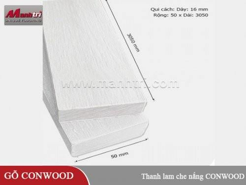 """Thanh lam che nắng CONWOOD Plank 2""""/16mm"""