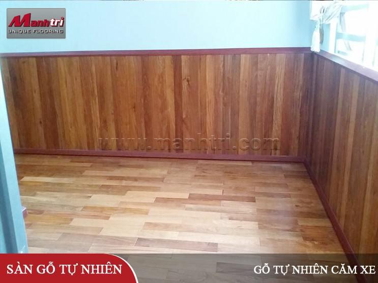 Gỗ tự nhiên Căm Xe lót sàn và ốp lamri nội thất ở Đồng Nai