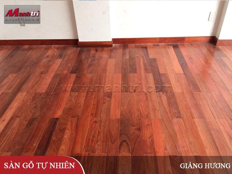 Lắp đặt sàn gỗ Giáng Hương tại quận 7, TPHCM