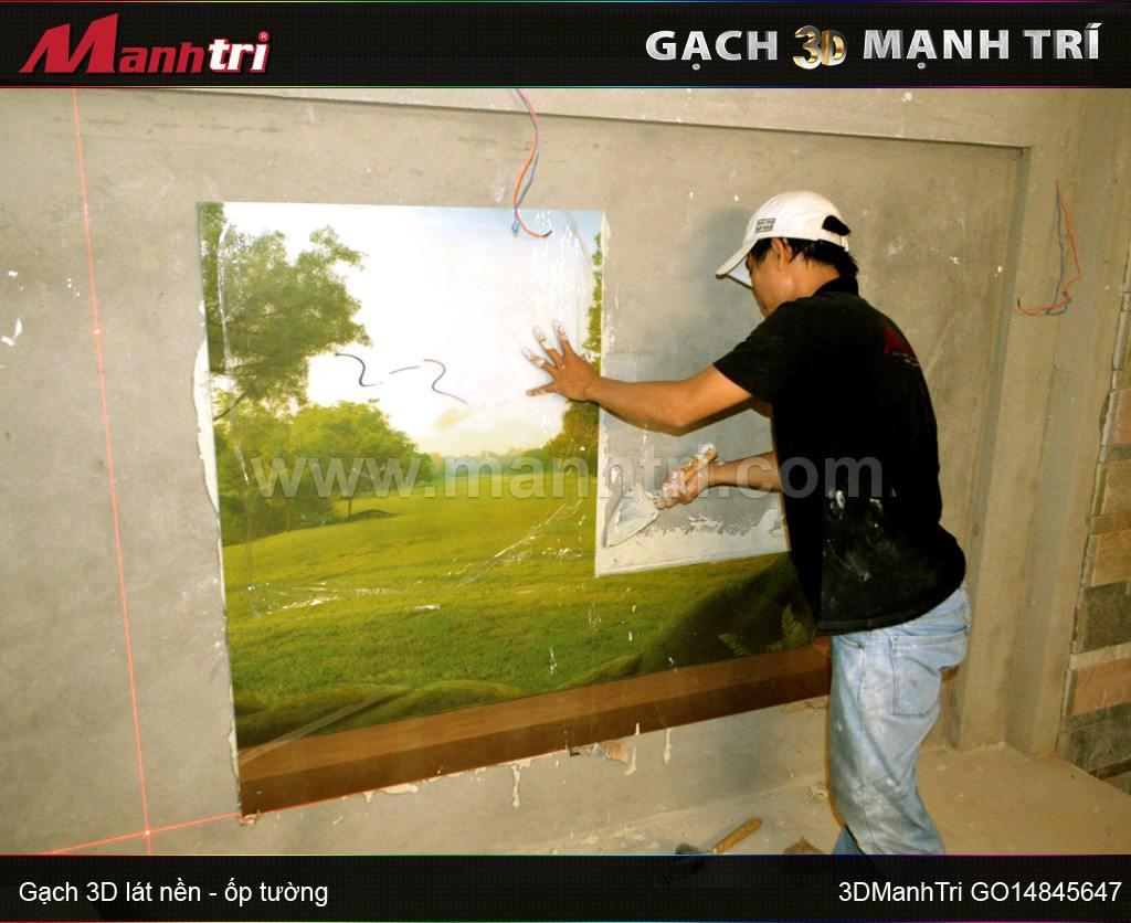 Mẫu gạch 3D GO14845647 ốp tường nhà Anh Hùng Quận 1, HCM