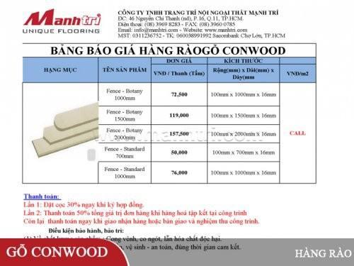 Thanh hàng rào gỗ Conwood