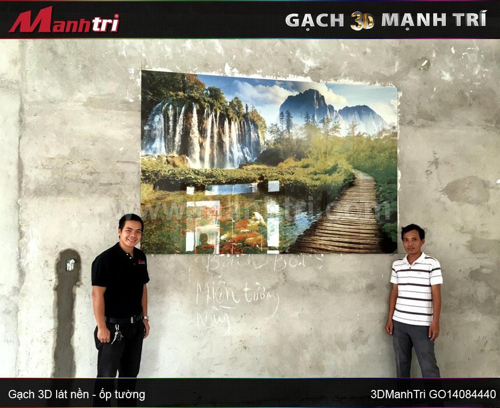 Gạch 3D mẫu GO14084440 ốp tường nhà Anh Đạt Q. Bình Tân