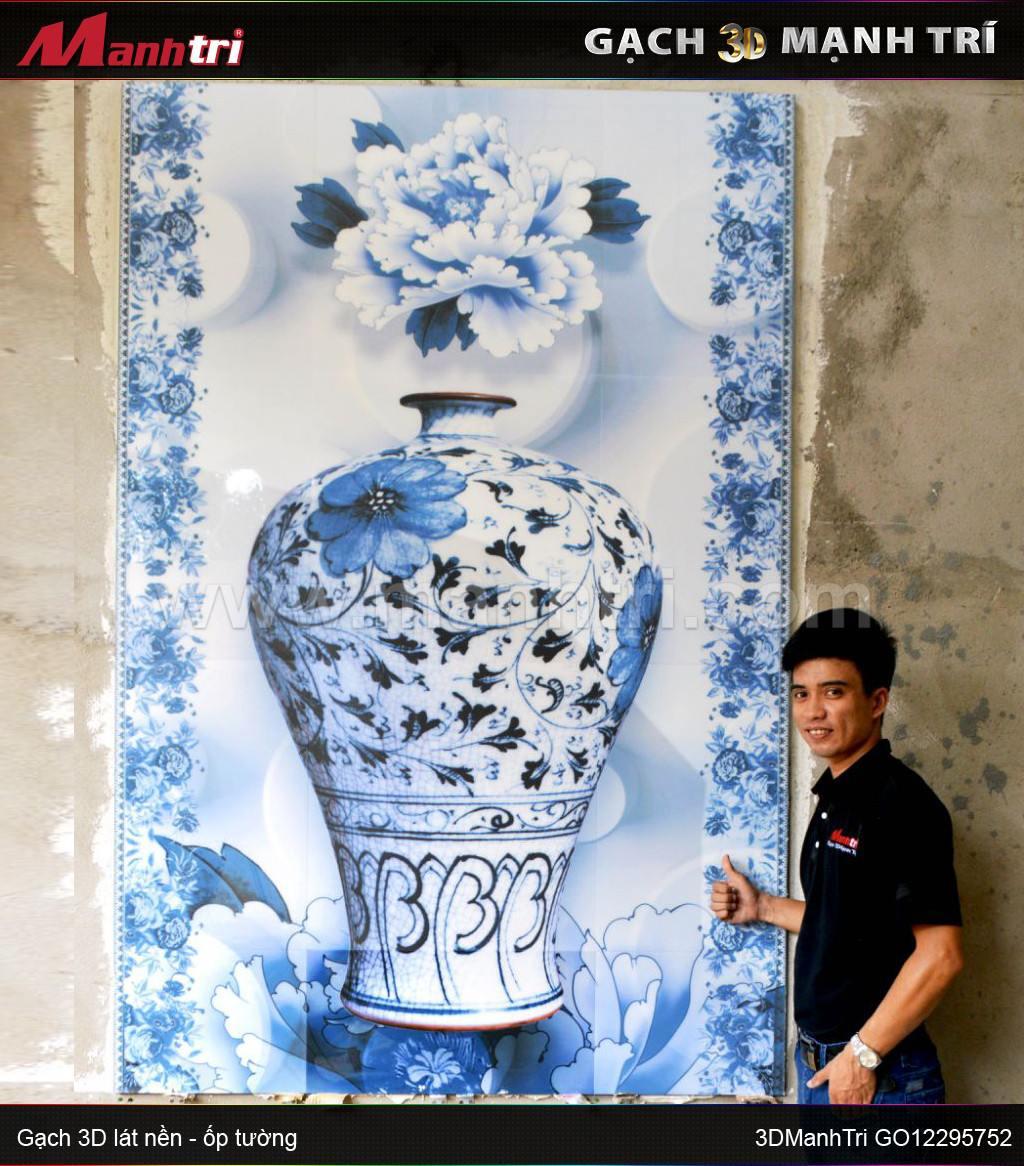 Gạch 3D ốp tường nhà Cô Dung Quận Bình Tân, HCM