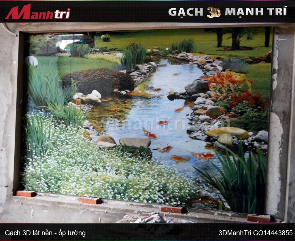 Gạch 3D Mạnh Trí ốp tường nhà Cô Vân quận Tân Phú, HCM