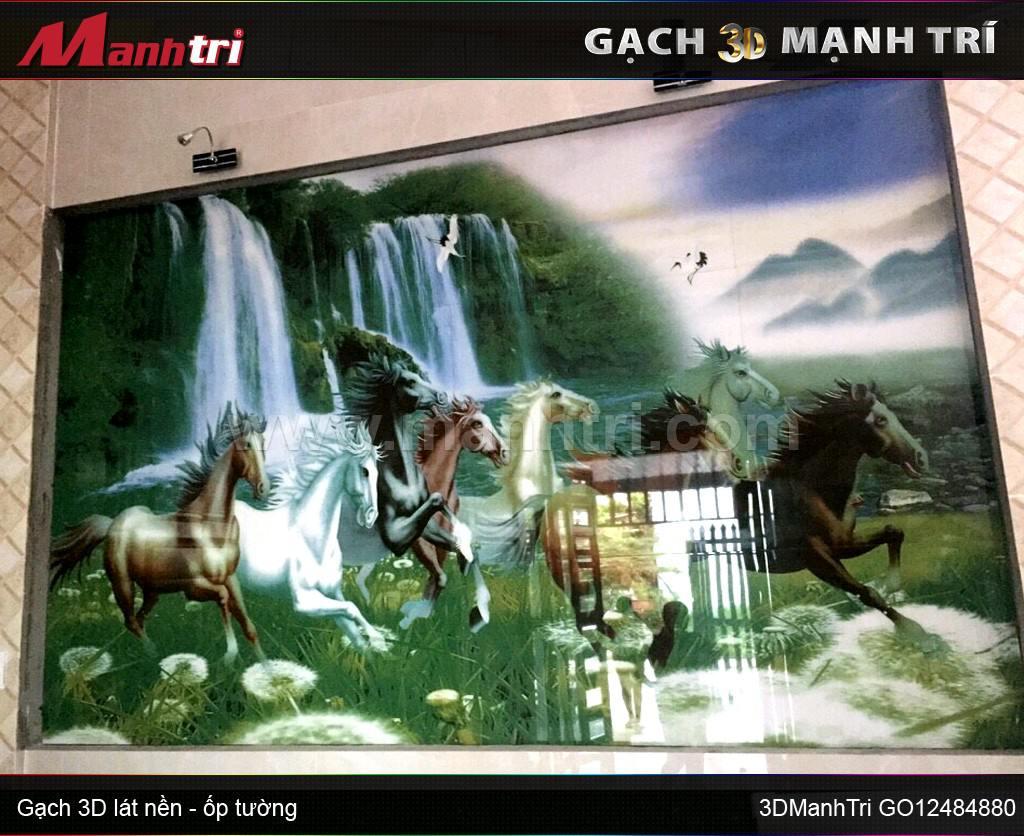 Gạch 3D Mạnh Trí ốp tường nhà Chị Linh ở Long An