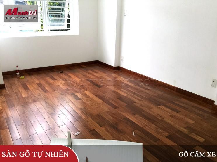 Gỗ tự nhiên Căm Xe lót sàn tại quận Tân Phú, HCM