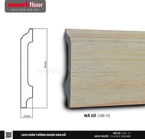 Len chân tường nhựa sàn gỗ L95-15