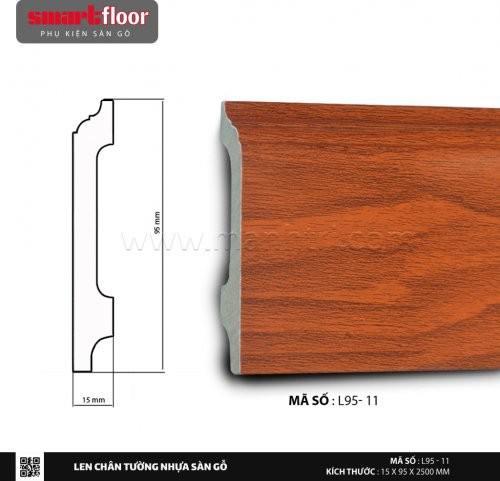 Len chân tường nhựa sàn gỗ L95-11