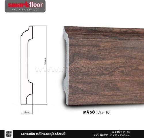 Len chân tường nhựa sàn gỗ L95-10