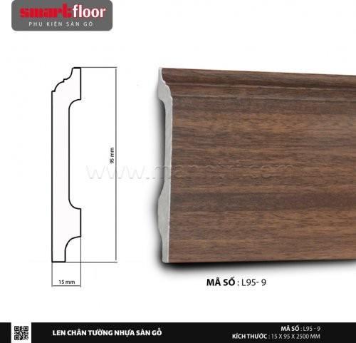 Len chân tường nhựa giả gỗ L95-9