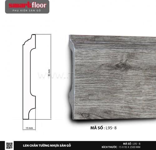 Len chân tường nhựa giả gỗ L95-8