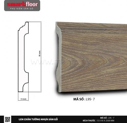 Len chân tường nhựa sàn gỗ L95-7