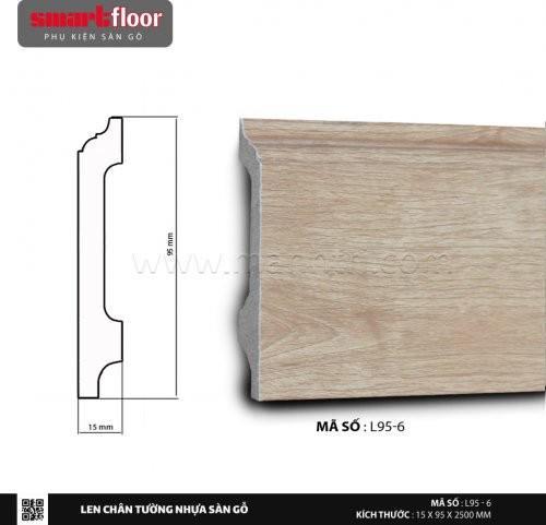 Len chân tường nhựa giả gỗ L95-6