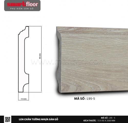 Len chân tường nhựa sàn gỗ L95-5