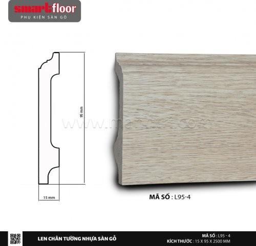 Len chân tường nhựa sàn gỗ L95-4