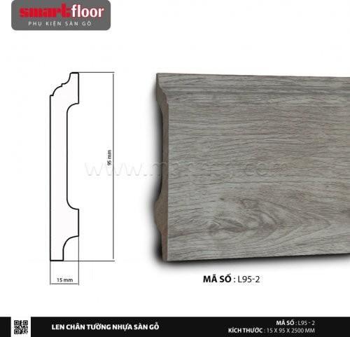Len chân tường nhựa giả gỗ L95-2