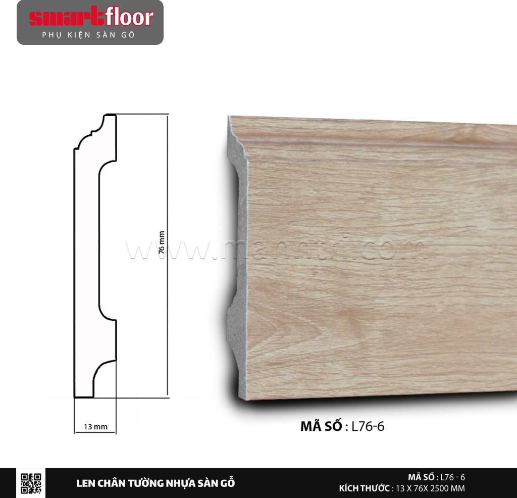Len chân tường nhựa sàn gỗ L76-6