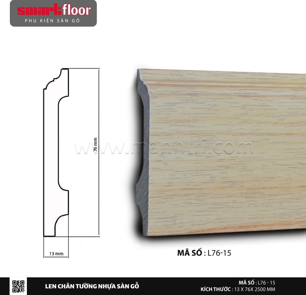 Len chân tường nhựa sàn gỗ L76-15