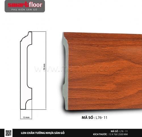 Len chân tường nhựa sàn gỗ L76-11
