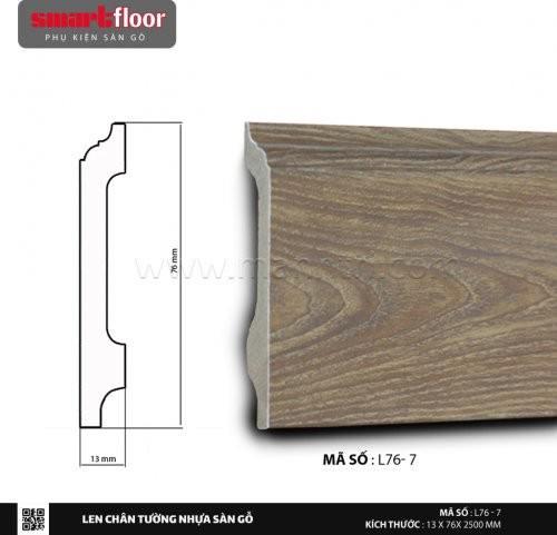 Len chân tường nhựa sàn gỗ L76-7