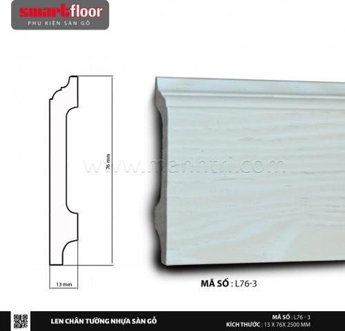 Len chân tường nhựa sàn gỗ L76-3