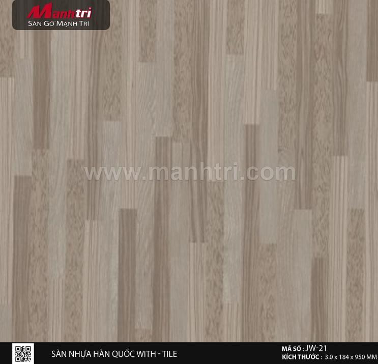 Sàn nhựa With - Tile JW-21
