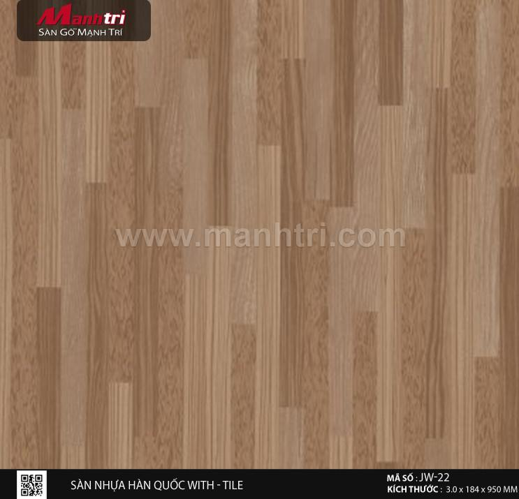 Sàn nhựa With - Tile JW-22