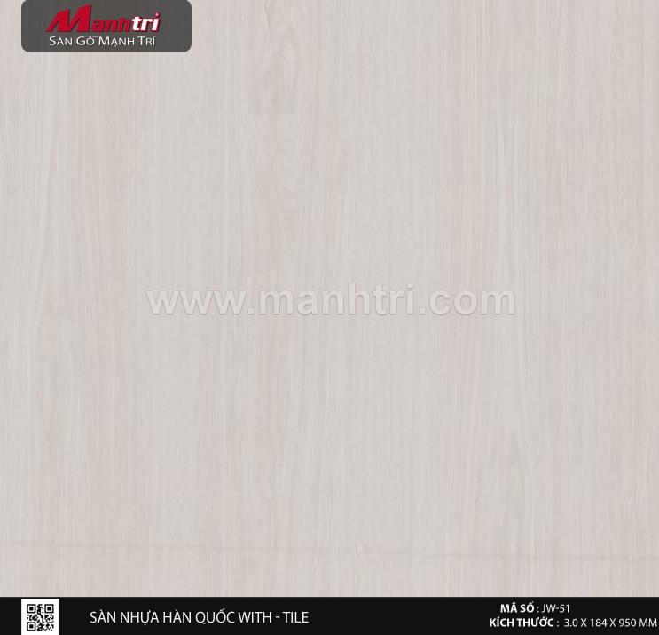 Sàn nhựa With - Tile JW-51