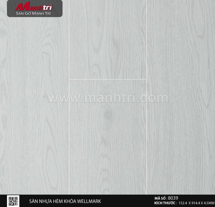 Sàn nhựa hèm khóa Aroma 8039