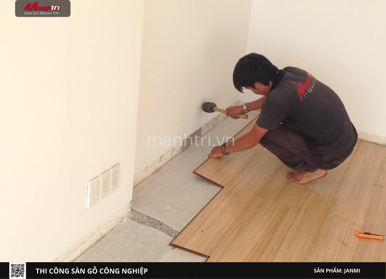 Quy trình lắp đặt sàn gỗ công nghiệp Janmi