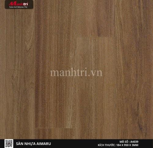 Sàn nhựa giả gỗ Aimaru 4039