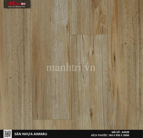 Sàn nhựa giả gỗ Aimaru 4038