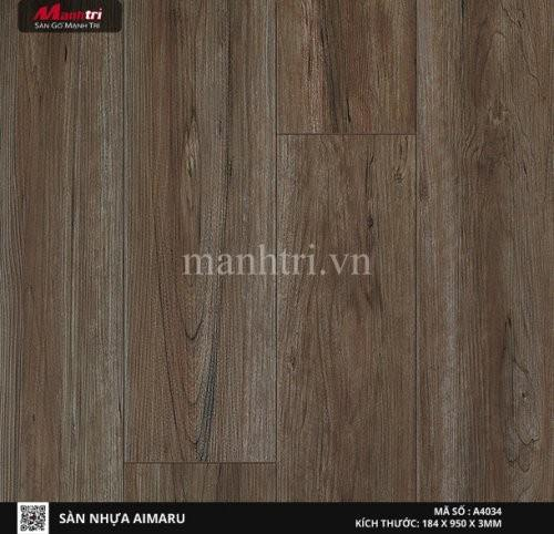 Sàn nhựa giả gỗ Aimaru 4034